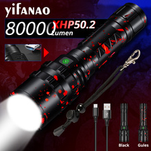 Xlamp 5000LM XHP50.2 LED Flashlight Hunting Flash Light L2 Waterproof Torch Powerful Camping Lanterna Use 18650 26650 Battery