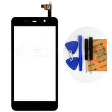 Black TP for THL W200 5 0 Touch Screen Digitizer Front Glass Panel Sensor No LCD