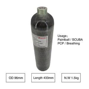 Image 5 - AC102 cilindro pcp attrezzature paintball HPA 2L CE PCP airsoft cilindro 4500psi/300bar In Fibra di Carbonio Cilindro/SCUBA Serbatoio