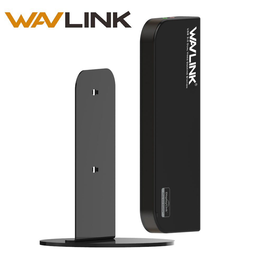 Wavlink USB 3.0 Universal Dual Display Docking Station high speed  Aluminum With Gigabit Ethernet HDMI DVI VGA for Mac Laptop PC
