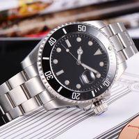 Estéril Corgeut 43mm Cristal de Zafiro GMT Reloj De Cerámica Bisel Negro Dial Fecha Mens Relojes Automáticos