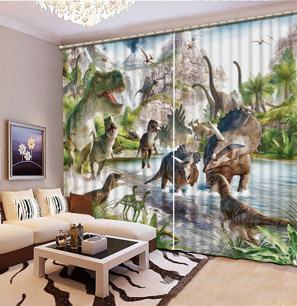 Blackout Shade Window High Quality Costom New Custom 3D Beautiful cartoon curtains fashion decor home decoration for bedroom in Curtains from Home Garden