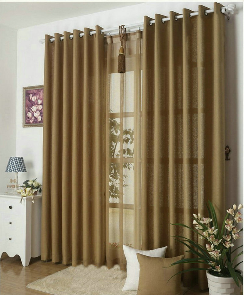 Buy Kitchen Curtains Solid Color Drapes