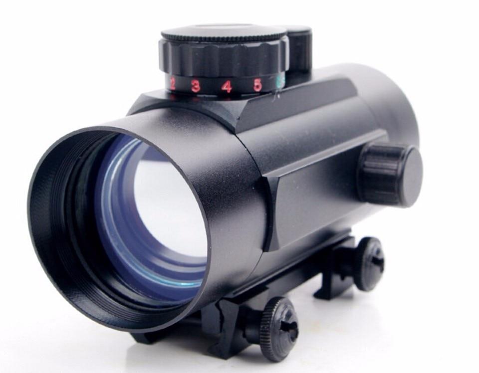 באיכות גבוהה עמיד למים 1X45 אדום נקודה ירוקה לייזר ראייה טלסקופית Reticle רפלקס היקף עם 20mm רכבת הר לציד E