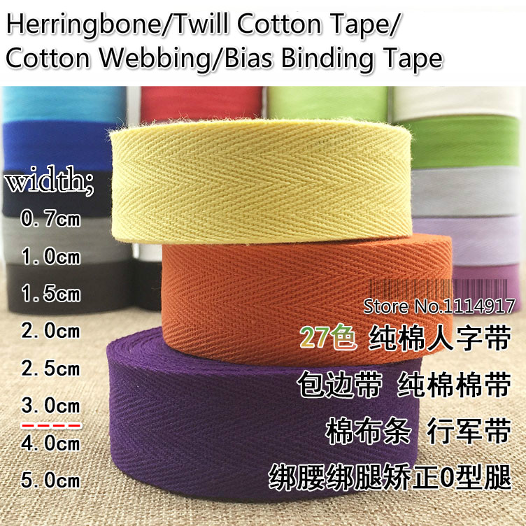 Facotry Price Herringbone/Twill Cotton Tape/Cotton Webbing