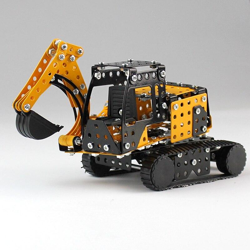 Oyuncaklar ve Hobi Ürünleri'ten Bloklar'de Uyumlu Şehir Mühendisliği Teknik Yapı Taşları Ekskavatör Oyuncak alaşım kamyon modeli Eğitim Tuğla Oyuncaklar Çocuk için'da  Grup 1