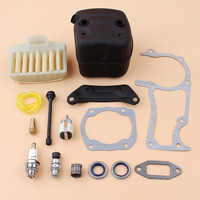Exhaust Muffler Engine Gasket Air Filter Oil Seal Kit For HUSQVARNA 365 362 372 371 Chainsaw Spare Parts