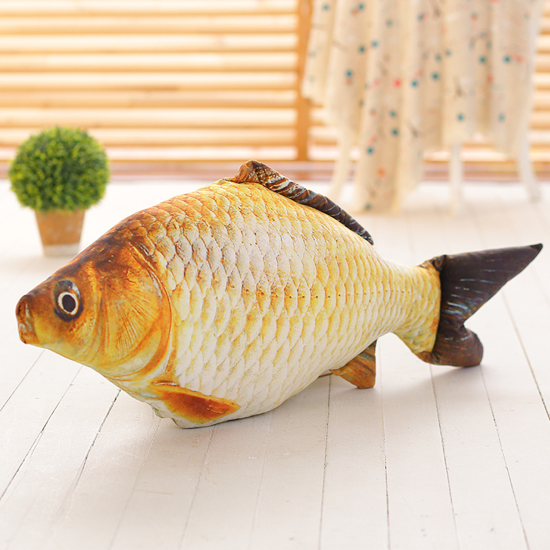 Super Staffed Soft Animal Fish Plush Toys Pillow Creative Pillow Cushion Gift Kids Dog Cat fish Toy Christmas Gifts PP cotton