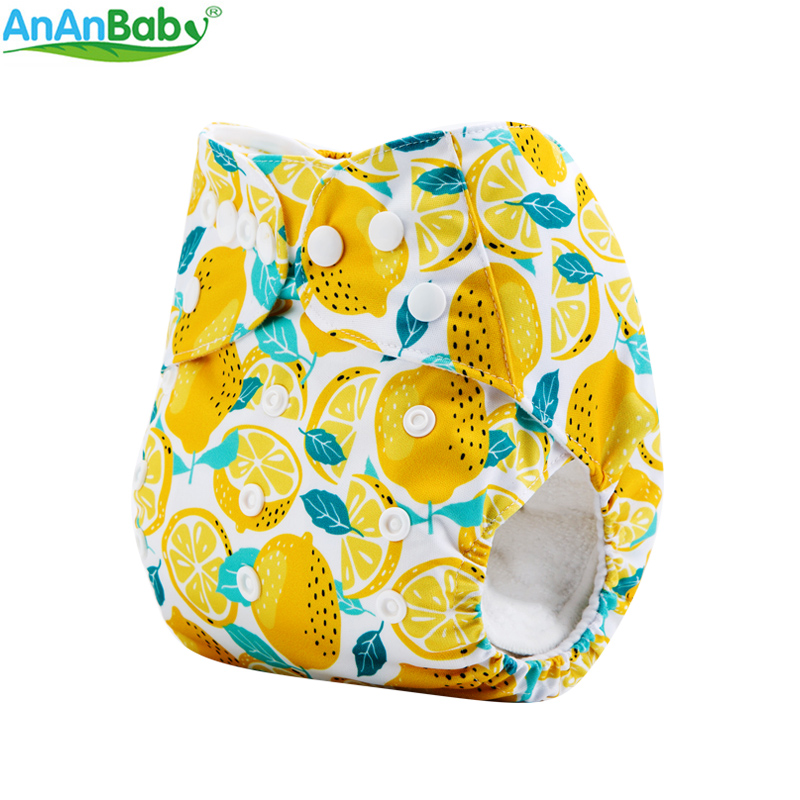 AnAnBaby Digital Prints Baby Cloth Lampin Waterproof Reusable Nappies With Hip Snaps M-Series