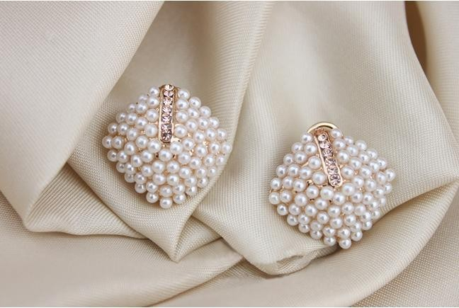 stone earrings beautiful studded sd indian designer
