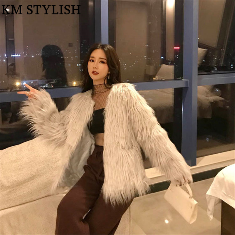 D'hiver Et Manches Coton De Doublure Noir Faux Tempérament Manteau Le Coréenne Dames Nouvelle Fourrure Plus Longues Automne Mode Version 2018 P5qxBOEw7