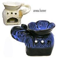 Pétala de tailândia elefante de cerâmica vela forno aromaterapia óleo essencial de aroma spa/yoga aroma terapia presentes criativos de decoração para casa