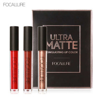 Focallure Lip Pomade Matt Liquid Lipsticks Frosted Lip Gloss Tint Ultra Matte Lipstick Set Birthday Edition
