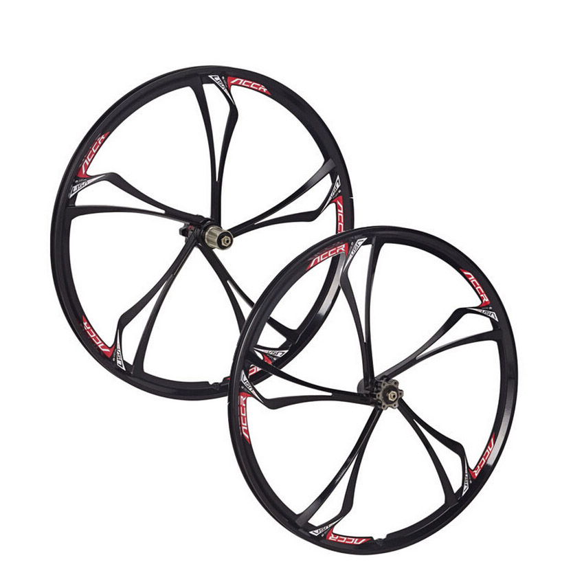 MTB 6 spokes mountain bike wheels Cassette 8 9 10 font b Speeds b font magnesium