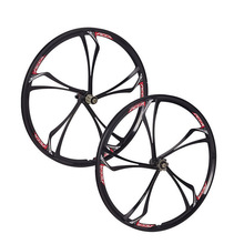 MTB 6 spokes mountain bike wheels Cassette 8/9/10 Speeds magnesium alloy  wheels 26″   Mountain Bicycle Wheel parts bike rims
