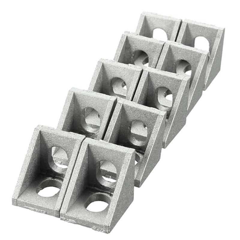 10 Pieces 2020 Aluminum Corner 20x20 L Shape Right Angle Bra Support Connector Extrusion Industrial Aluminum Profile