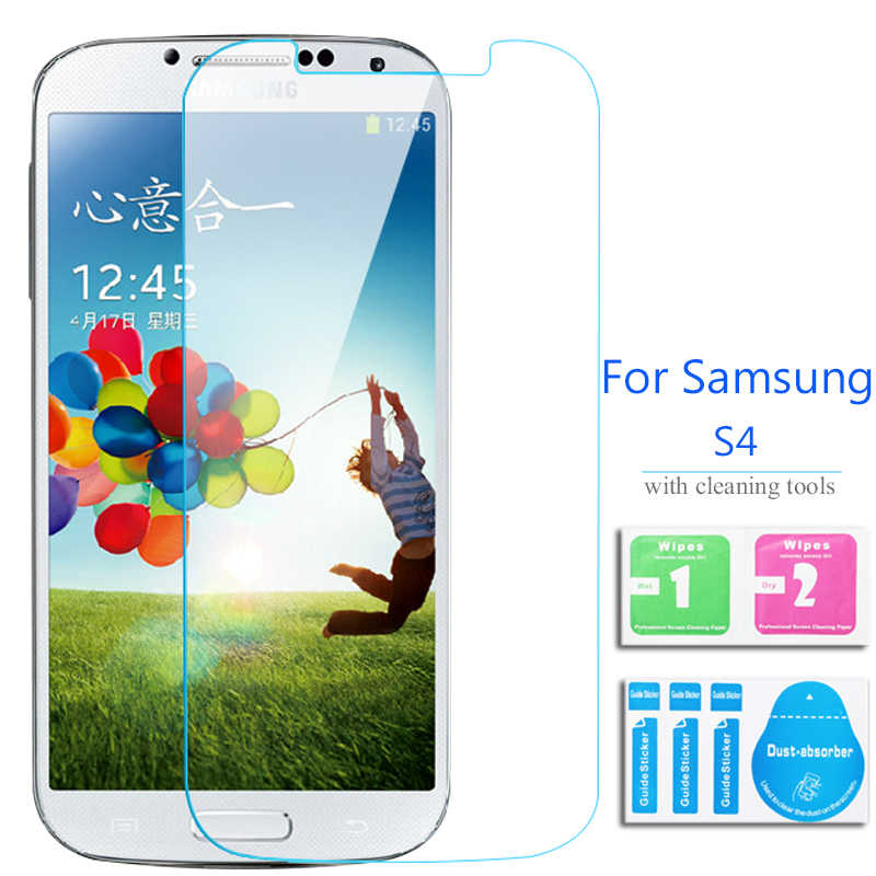 For Samsung Galaxy S4 tempered glass screen protector Safety Film on S 4 IV I9500 I9505 e300s E300K SIV Altius