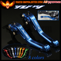 Laser Logo(YZF R1) New CNC Aluminum Blue Motorcycle Short Brake Clutch Levers For Yamaha YZF R1 2009 2010 2011 2012 2013 2014