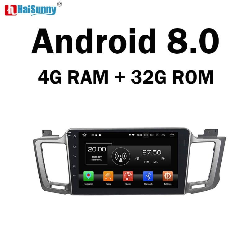 HaiSunny 4GB RAM Octa Core Android 8.0 Car DVD GPS Multimedia Player Stereo For Toyota RAV4 2013 2014 2015 Radio цена