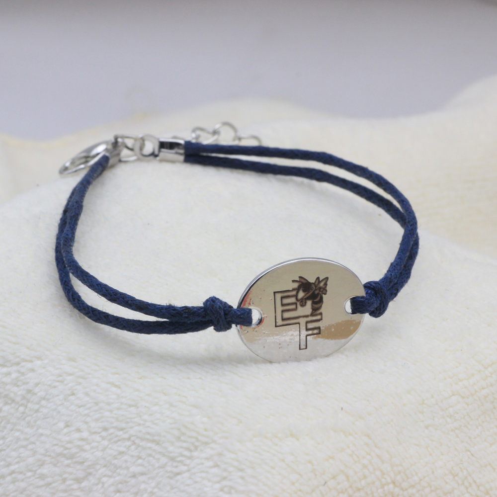 Customized EF Bee Bracelet adjustable Bracelet Dark Blue Rope Bracelet for Men and Women Gift Drop shipping YP0067