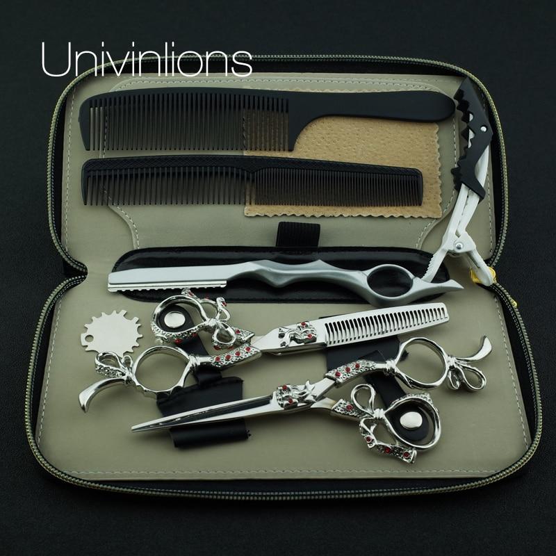 """univinlions 6 """"salon de coafura razor foarfece de coafura coafor japoneza profesionale foarfece de par frizer foarfece subtiri"""
