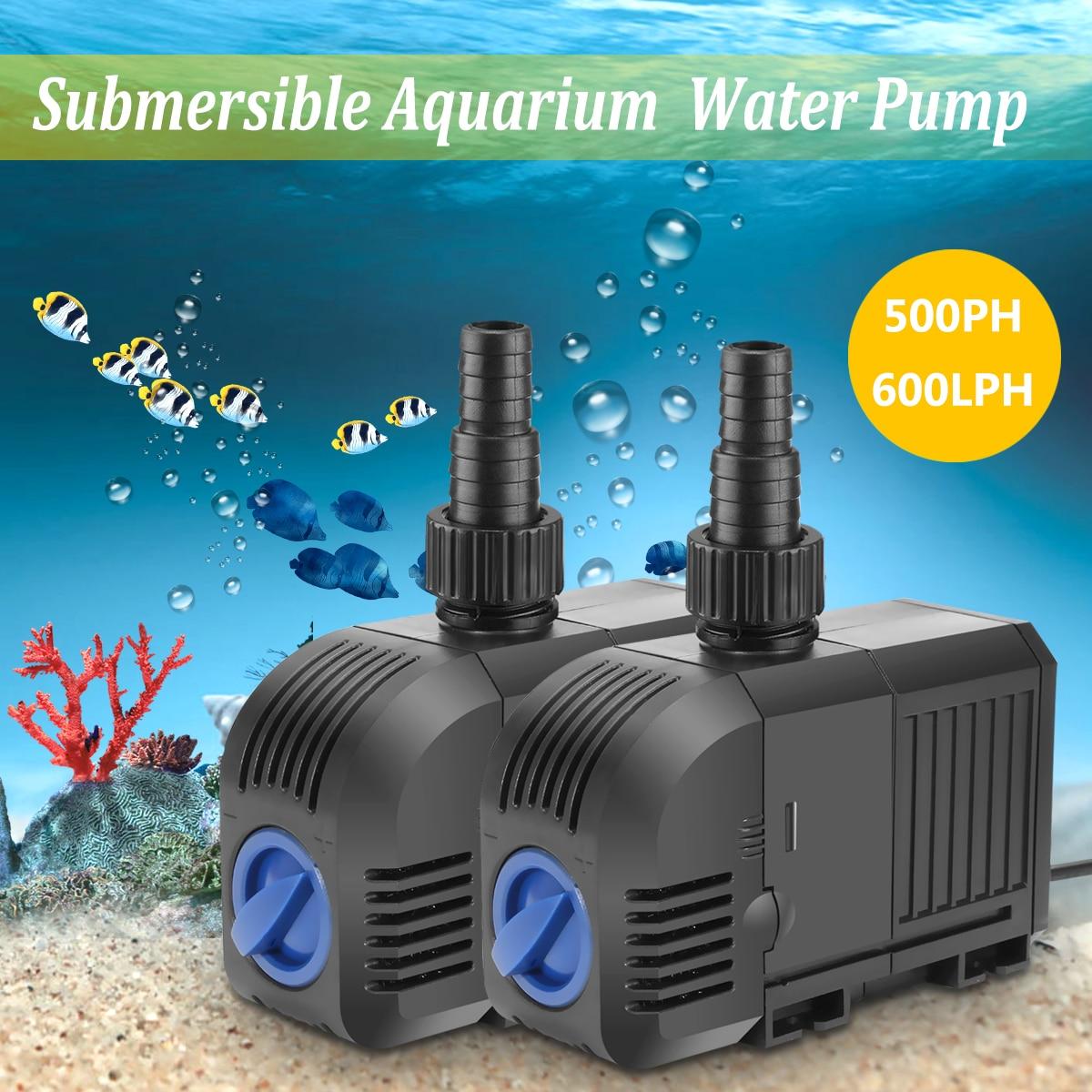 Adjustable Changeable Water Pump for Aquarium Fish Tank Coral Reef Marine Aquarium Pump Sponges Submersible Pump for Pond Pool