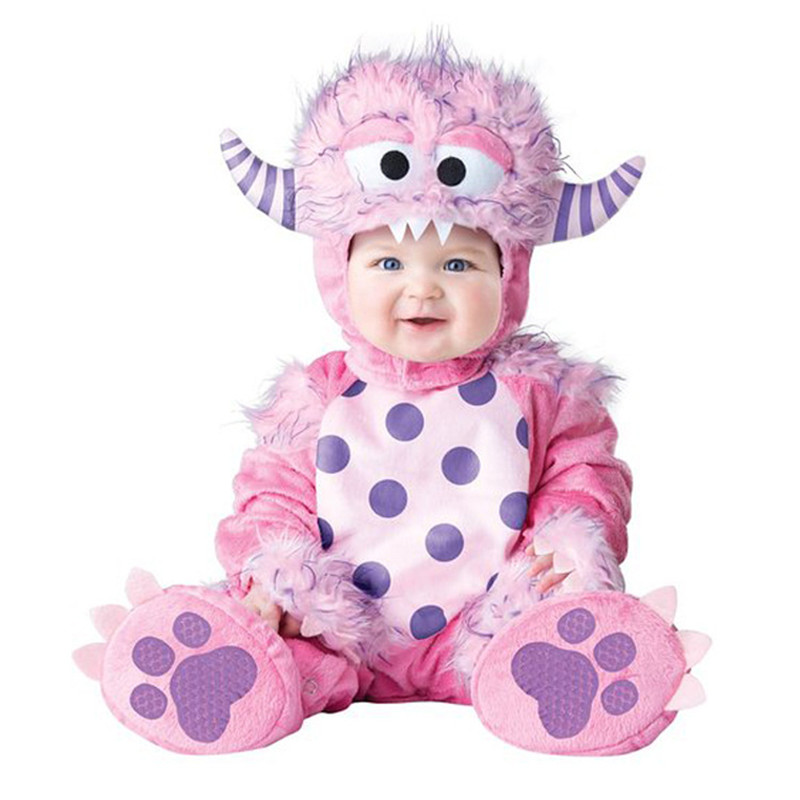 High Quality Baby Halloween Pink Genius Kids Cosplay Costume Animals Shaped Clothes Children Clothing