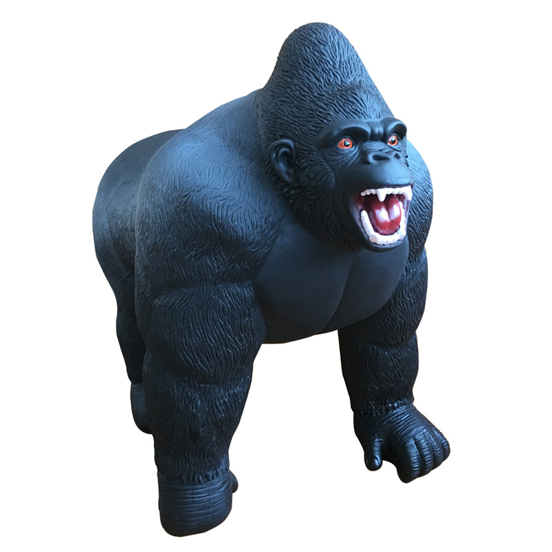 1pc Super chimpanzee Gorillas Model Ride Soft Filling Cotton Action Figure Oversized Diamond Simulation Animal Toy Kids Gift #E pvc figure animal simulation model children toy zoo animalsbacking large chimpanzee monkey baboon diamond gift 6monkeys 2trees