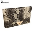 Hot sale Brand New Women's Synthetic Leather Snake Skin Envelope Bag Sexy Luxury Day Clutches Purse Evening Bags WLHB1135
