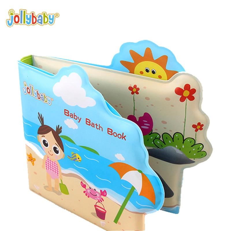 Jollybaby Impermeable Niño Niña Bebé Baño Libro de Baño Sonajero - Juguetes para niños