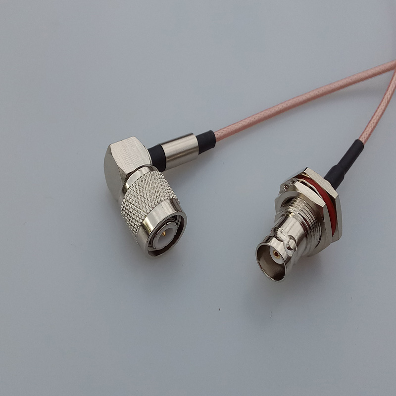 RF TNC male right angle plug Switch BNC Female Jack adaptor RG316 coaxial cable linear Connector rf coaxial cable rg142 sma male plug switch tnc female bulkhead adapter 50cm 20 high quality low attenuation
