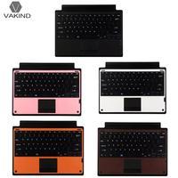 Ultra Slim Thin Wireless Bluetooth Keyboard Multi Touch PU Leather Teclado Sem Fio Klavye For Microsoft