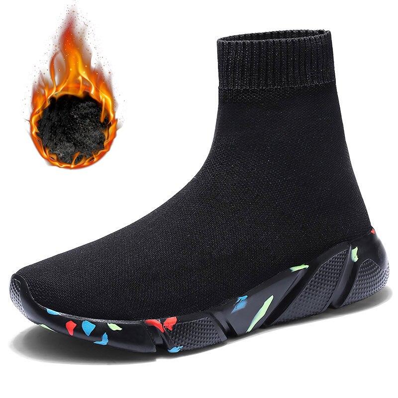 MWY Atmungsaktive Winter Ankle Schuhe Frauen Socken Schuhe Frau Turnschuhe Casual Elastizität Warme Plattform Schuhe Mujer tenis feminino