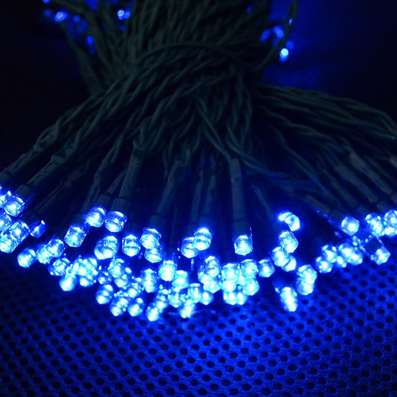 Blue String Lights Solar String Lights Outdoor for Gardens Patio Lawn Gate Yard String Lights Party with 200 LED Waterproof  (3)
