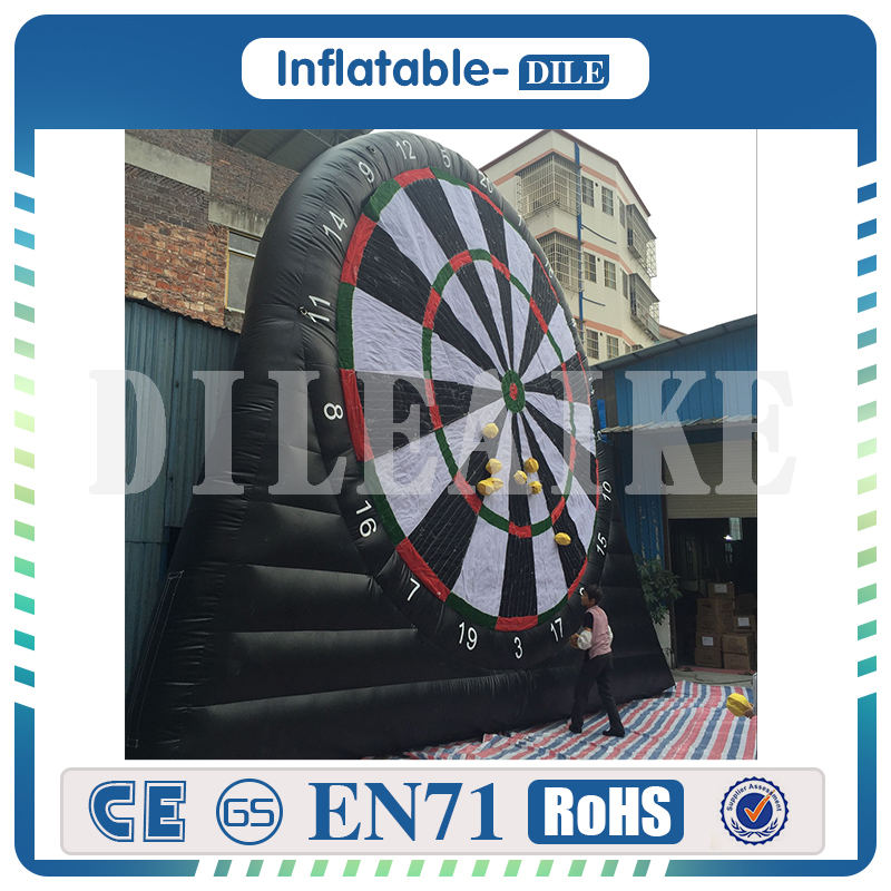 Free Shipping 4m 13ft high giant inflatable foot dart funny big Inflatable Soccer Darts Inflatable font