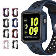 ファッションデュアル色 Apple 腕時計シリーズ 1/2/3 カバーフレームフル保護 42 ミリメートル 38 ミリメートル私は 4 のためのケース 4