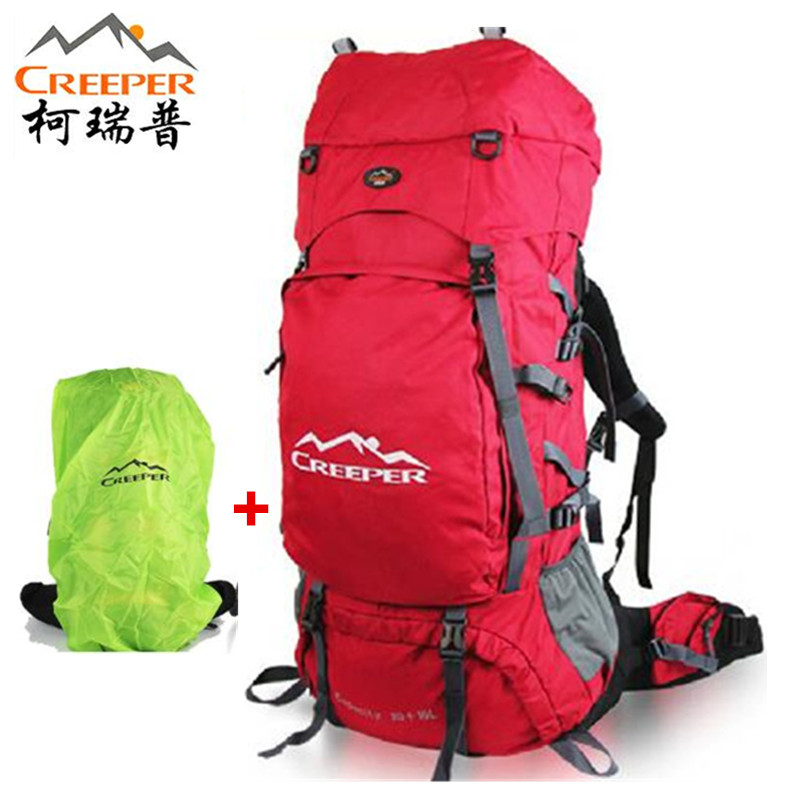 Creeper Climbing backpack 90L Professional 2018 Outdoor Shoulders Hiking waterproof men women travel Sport Mountaineering Bag cangma original newest woman s shoes mid fashion autumn brown genuine leather sneakers women deluxe casual shoes lady flats