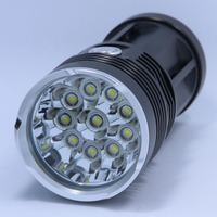 New 20000 lumens High Power 10T6 LED handlamp 10 x XM L T6 LED Flashlight Torch Lamp Light Lantern For Hunting Camping