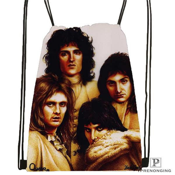 Custom Queen Band 01 Drawstring Backpack Bag Cute Daypack Kids Satchel Black Back 31x40cm 180611 01