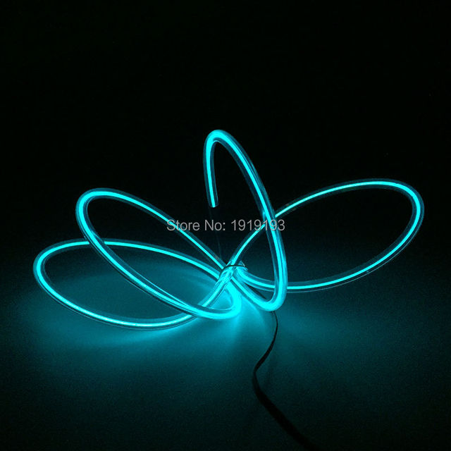 Elektrolumines neon led streifen licht el draht seil 5,0mm 2 meter ...