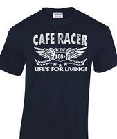 Кафе гонщиков футболка в исходном возрасте Посмотрите Байкер 60-х Rock & roll Ace короткий рукав дешевая распродажа хлопковая Футболка принт Футбо...