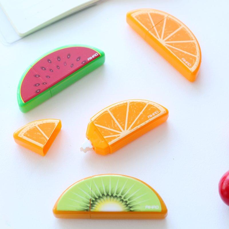 6 pcs/Lot Fruit deco correction tape Mini correcting tapes c