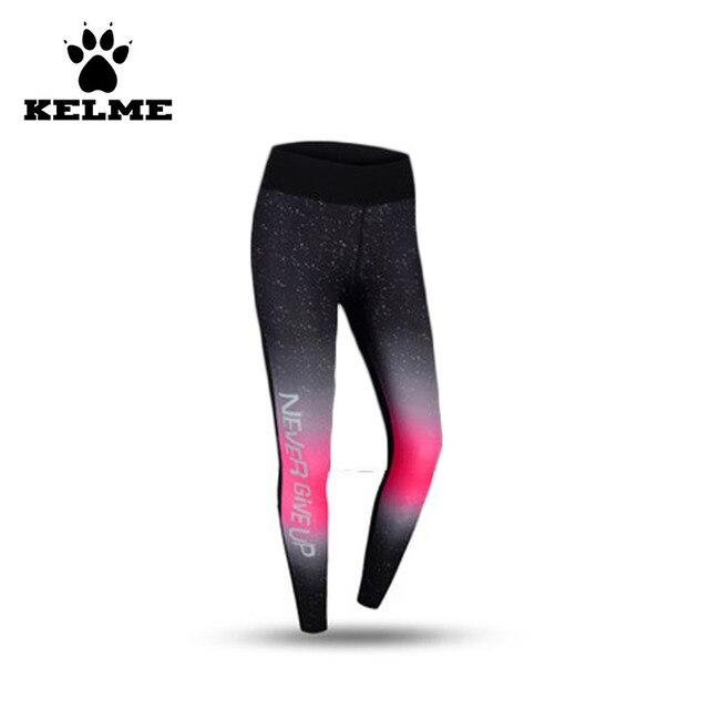 KELME Crossfit Ginásio Justas Compressão Leggings Feminina Roupas de  Fitness Calças de Yoga Esticadas Mulheres Correndo 56da957363c73