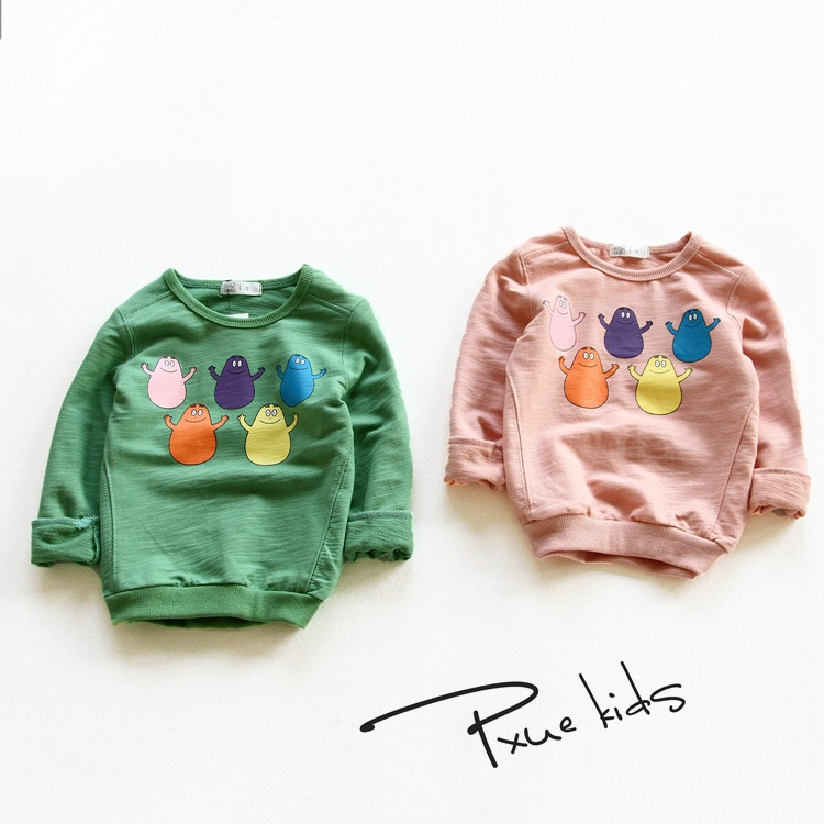 2017 Spring New children t shirts hot sale boys girls clothes kids Cartoon cotton full-sleeve T-shirt 90-140cm Sweatshirt