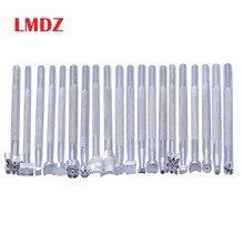 LMDZ Metal cuero trabajo sillín herramientas para tallar cuero artesanía sellos cuero artesanía estampado sólido Metal herramienta de impresión