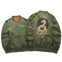 2019 New Oversize Men's Military Bomber Jacket Game LOL K/DA Akali Coat Army Tactical Zipper Flying Jacket Black Green US SIZE