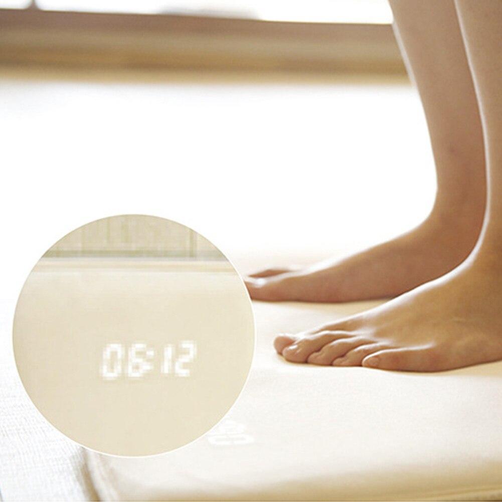 Tapis souple réveil LED tapis d'affichage numérique intelligent batterie alimenté électricité horloge sensibilité à la pression alerte couverture