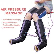 Hava Sıkıştırma ayak masaj aleti Elektrik Sirkülasyon Bacak Sarar Vücut Ayak Bileği Buzağı Terapi Parantez Destekler