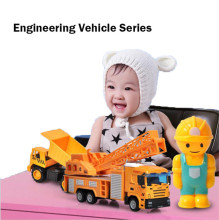 Plastic Alloy Children Car Toys for Military Vehicle Sanitation Vehicle of Simulated Fire Engineer все цены