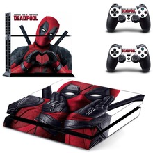 Deadpool PS4 Skin Vinyl Decal Deadpool Stickers for Sony Playstation 4 Console and Two Controller Cover Skins